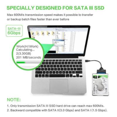 Cabo USB TO SATA 3.0 Sata para USB Adaptador de até 4.8gbps